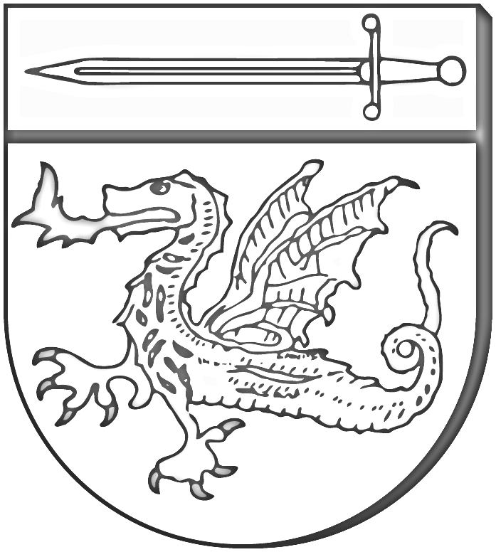 Wappen Stadt Munster s/w