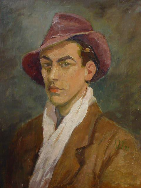 Clemens Neuhaus - Selbstportrait in jungen Jahren